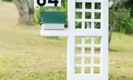 DIY: House Number and Post Box stand