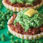 Meat Pies with Pea and Potato Mash