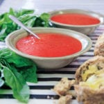 Roasted Tomato and Zucchini Soup