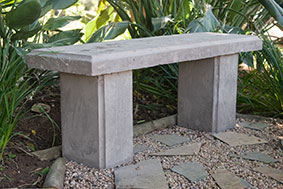 Build a concrete bench