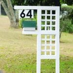 House Number and Post Box stand