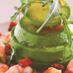 Avocado, prawn and chorizo salad