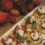 Cherry tomato crumpets
