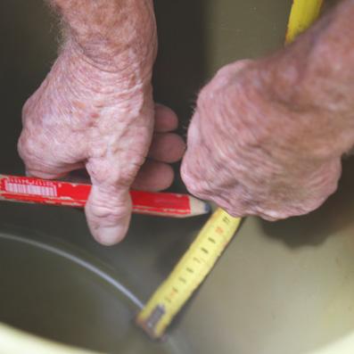 concrete pot stand measurements