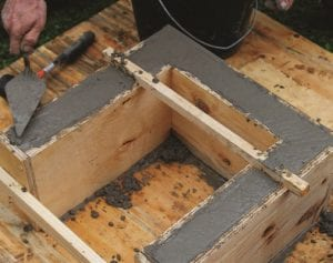 diy cement table