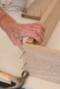 diy indoor plat frame nails