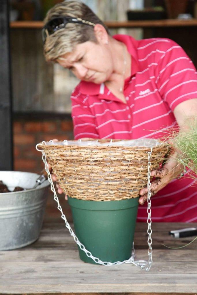 autumn hanging baskets