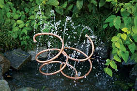 water feature copper spiral